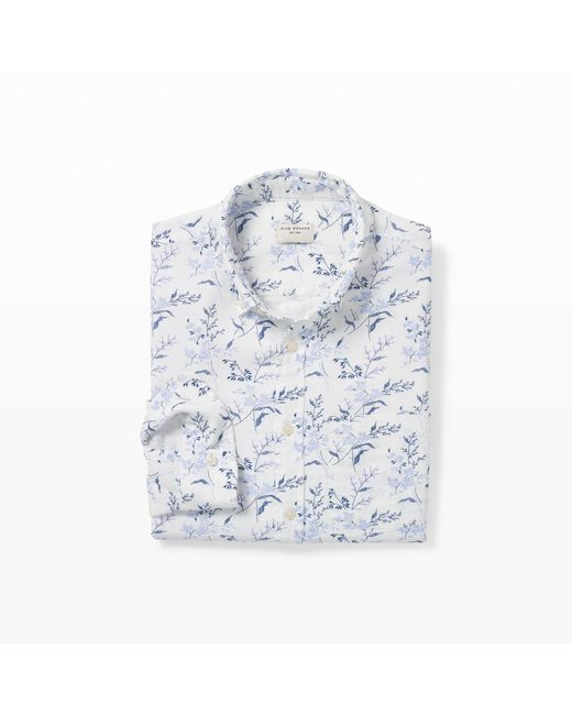 Club Monaco | White Slim Double-face Bloom Shirt for Men | Lyst