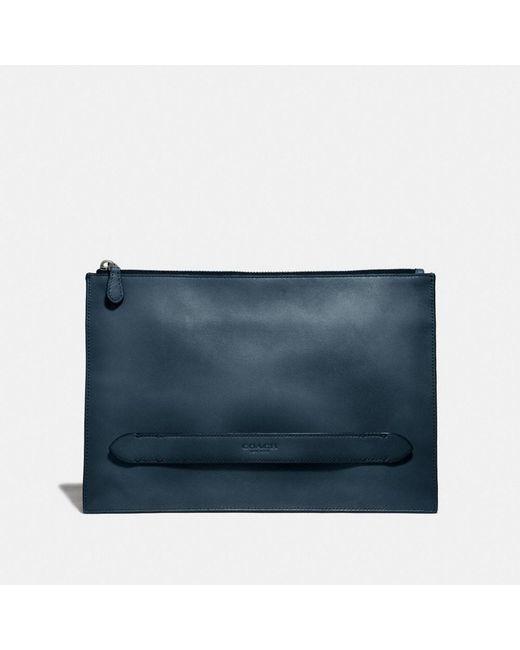 La pochette Manhattan COACH pour homme en coloris Blue