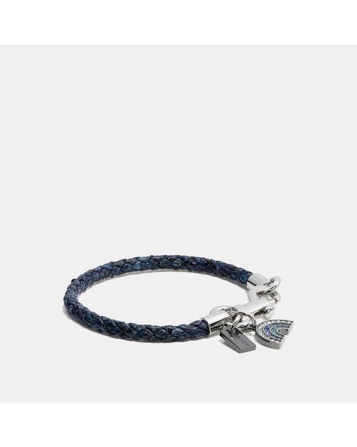 COACH - Multicolor Charms Snakeskin Friendship Bracelet - Lyst