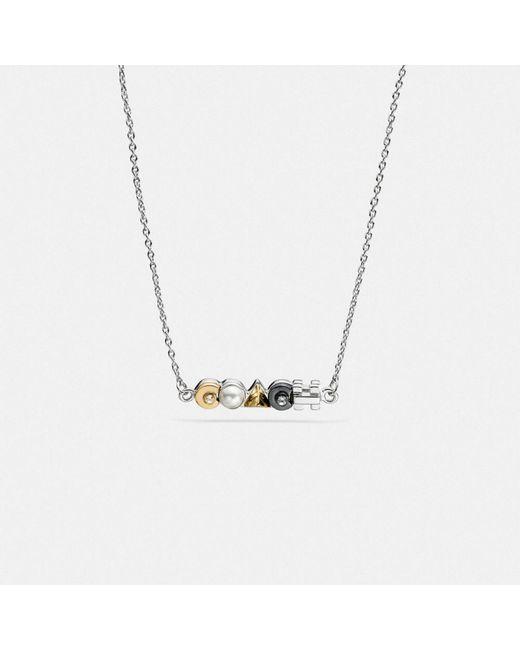 COACH | Multicolor Deco Necklace | Lyst