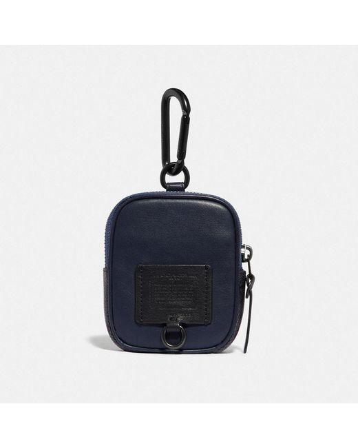Pochette 8 hybride avec toile exclusive COACH pour homme en coloris Blue