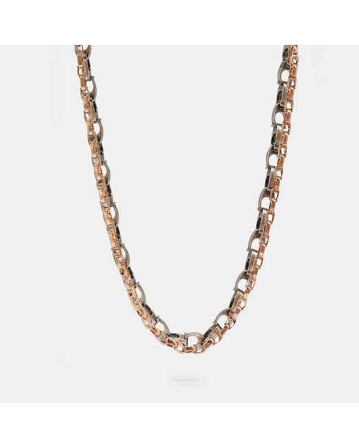 COACH - Multicolor Signature Chain Layered Necklace - Lyst
