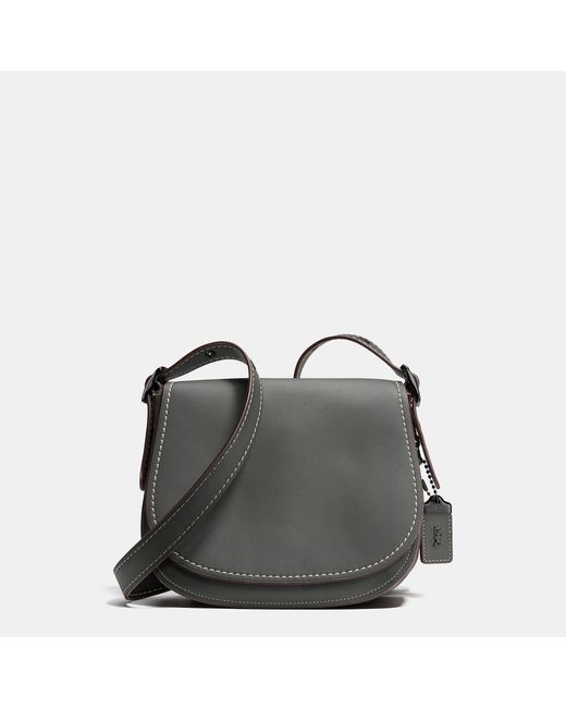 COACH | Gray Saddle 23 Leather Cross-Body Bag | Lyst