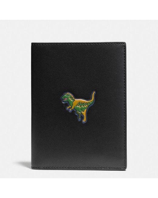 COACH | Black Beast Passport Case In Glovetanned Leather | Lyst