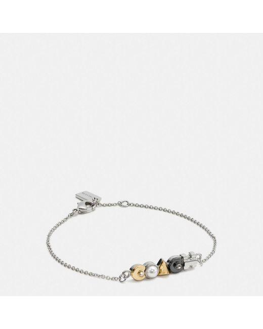 COACH   Metallic Deco Chain Bracelet   Lyst
