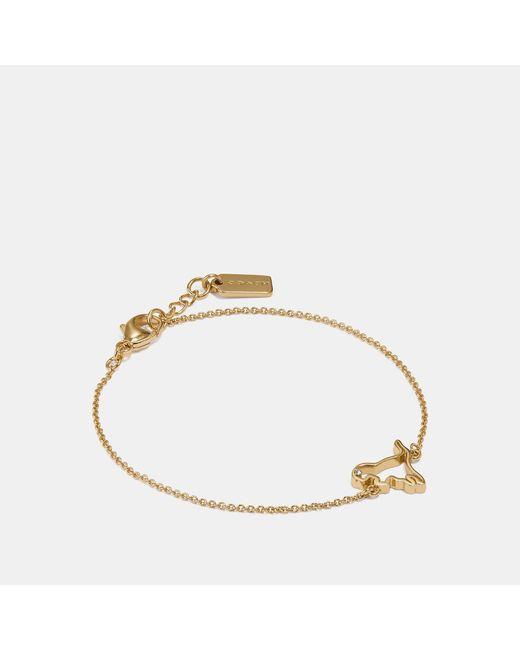 COACH - Metallic Demi-fine Cutout Rexy Bracelet - Lyst