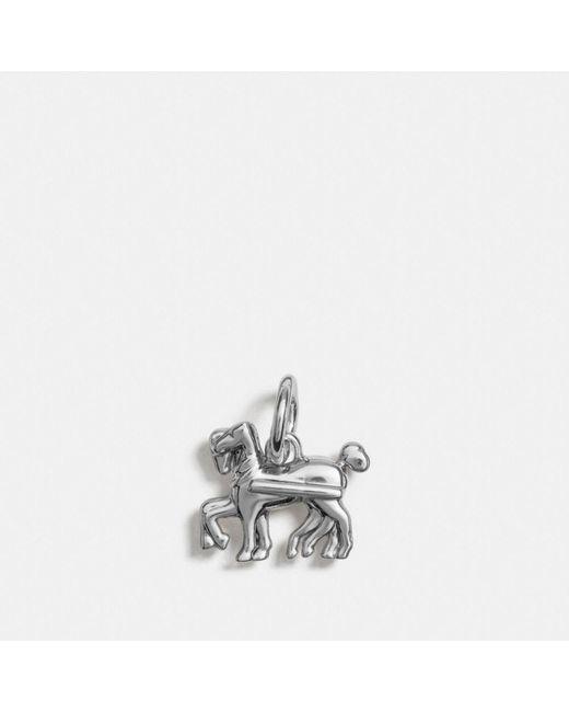 COACH | Metallic Horse Charm | Lyst