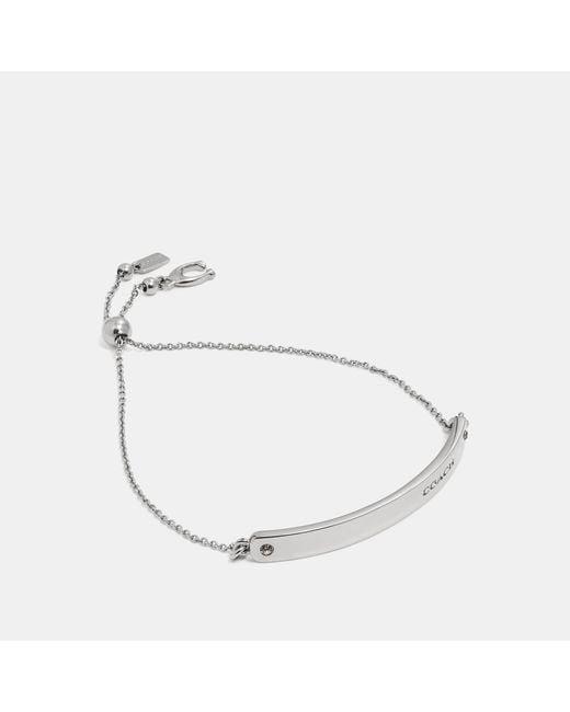 COACH Metallic Bar Slider Bracelet