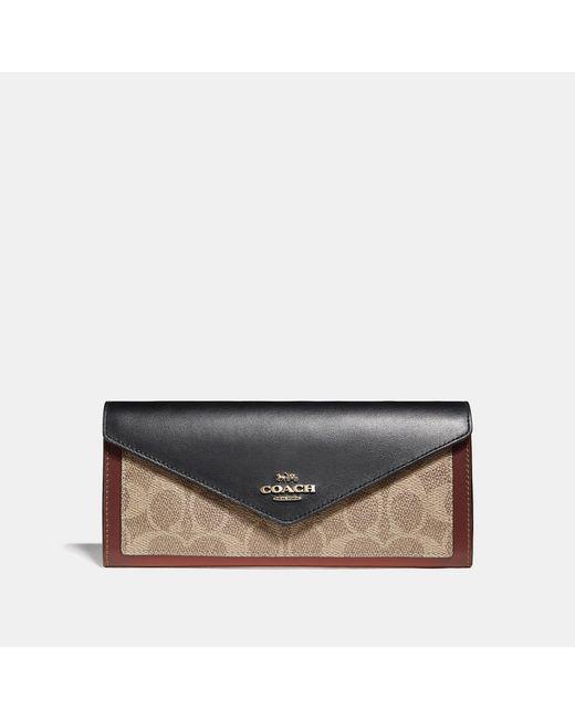 COACH - Multicolor Soft Wallet - Lyst