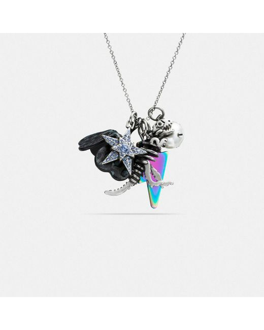 COACH | Multicolor Clustered Charms Long Necklace | Lyst