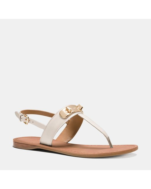 COACH   White Gracie Swagger Sandal   Lyst