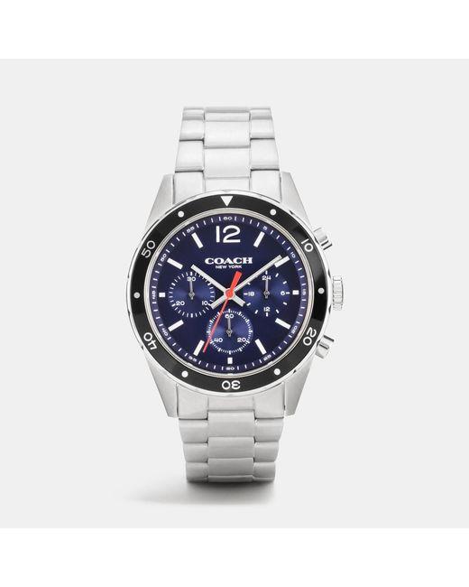 COACH   Metallic Sullivan Sport Stainless Steel Chrono Bracelet Watch for Men   Lyst