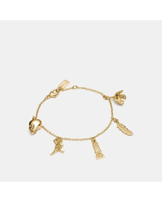 COACH - Metallic Mini Charm Mix Bracelet - Lyst