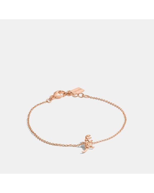 COACH Metallic Mini Demi-fine Rexy Bracelet