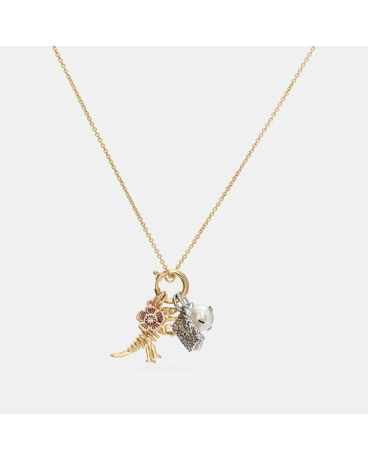 COACH - Metallic Rexy Charm Collectible Necklace Set - Lyst