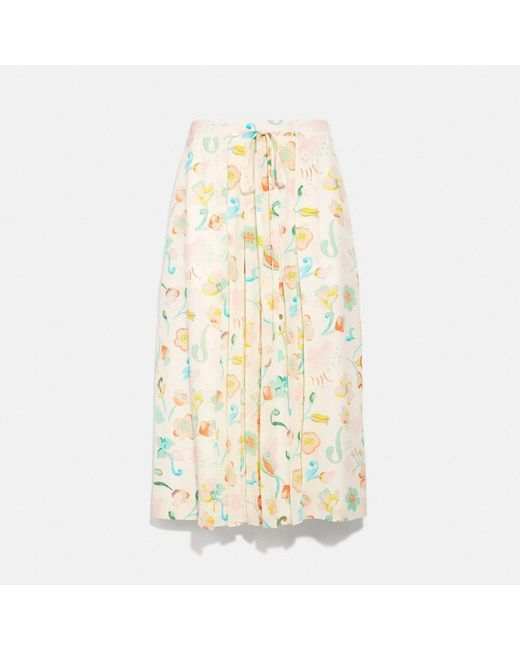 COACH Multicolor Printed Uptown Skirt
