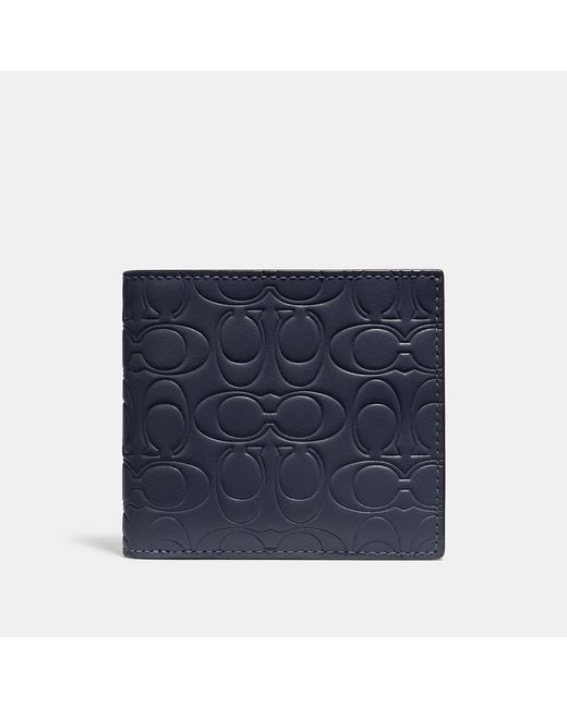 5e9e6fd3541e Lyst - COACH Double Billfold Wallet In Signature Leather in Blue for Men