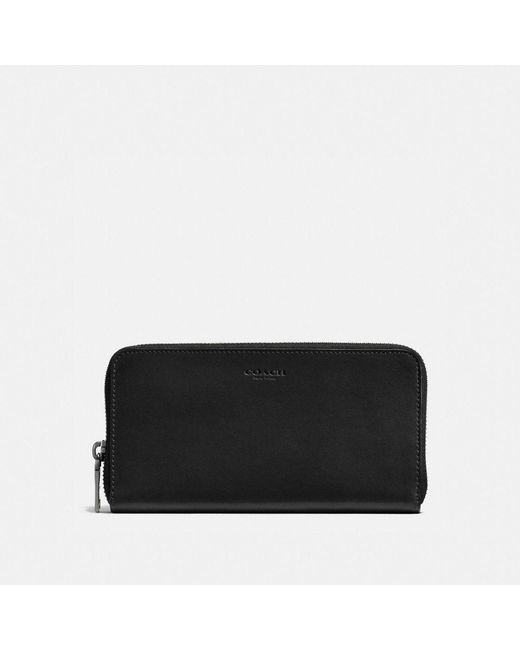 COACH | Black Accordion Wallet In Sport Calf Leather | Lyst