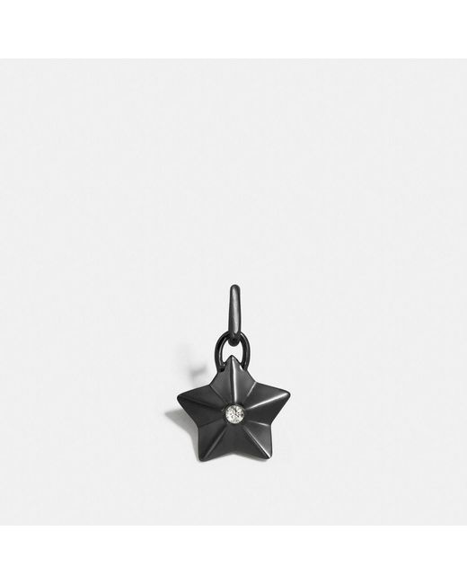 COACH - Black Faceted Star Charm - Lyst