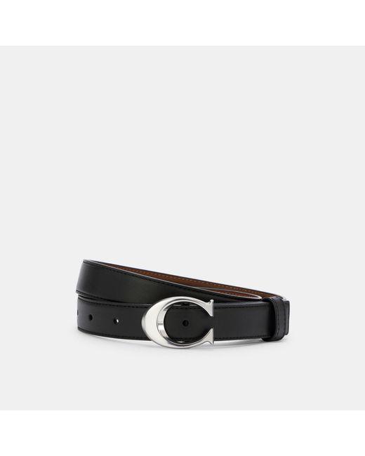 COACH Black Signature Buckle Belt, 25mm