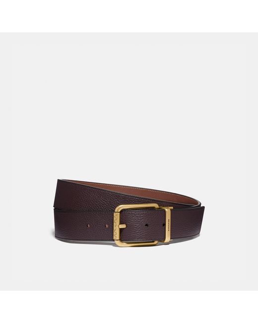 COACH Brown Roller Buckle Cut-to-size Reversible Belt, 38mm for men
