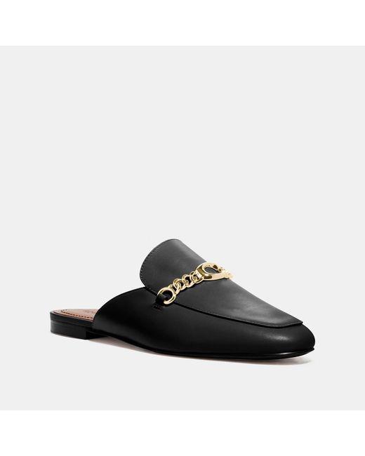 COACH Black Sofi Slide Slip On