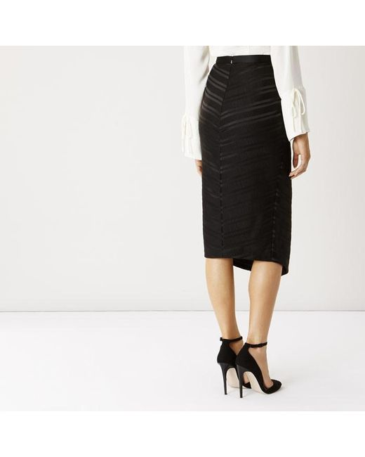 coast kemsey pencil skirt in black lyst