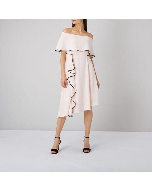 Coast - Multicolor Amory Tipped Soft Bardot Dress - Lyst
