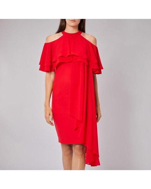 Coast | Red Inez Ruffle Shift Dress | Lyst