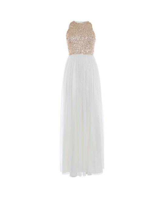 Coast Ru Sequin Tulle Prom Dress in Metallic | Lyst