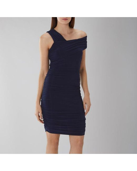 Coast - Blue Clara Ruched Jersey Dress - Lyst