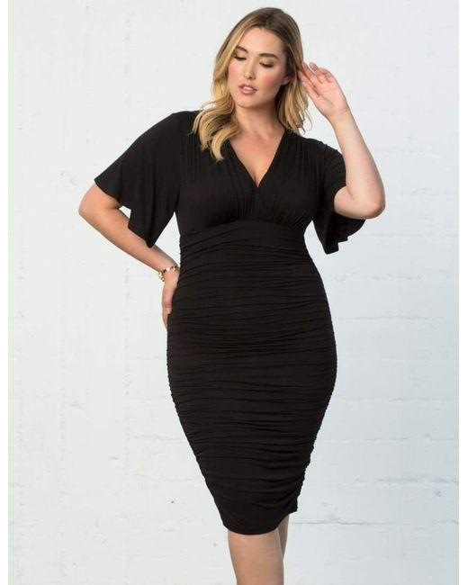 bba65ebd490 ... Kiyonna - Black Rumor Ruched Dress - Lyst ...
