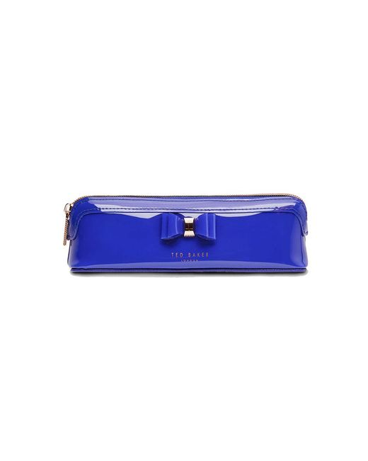 Ted Baker - Blue Jass Bow Detail Pencil Case - Lyst