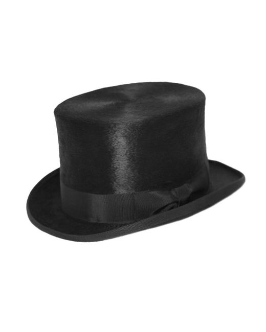 Olney - Black Melusine Fur Felt Top Hat for Men - Lyst