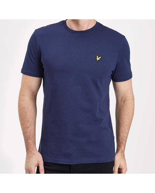 449b3ef9b ... Lyst Lyle & Scott - Blue Crew Neck T-shirt for Men ...