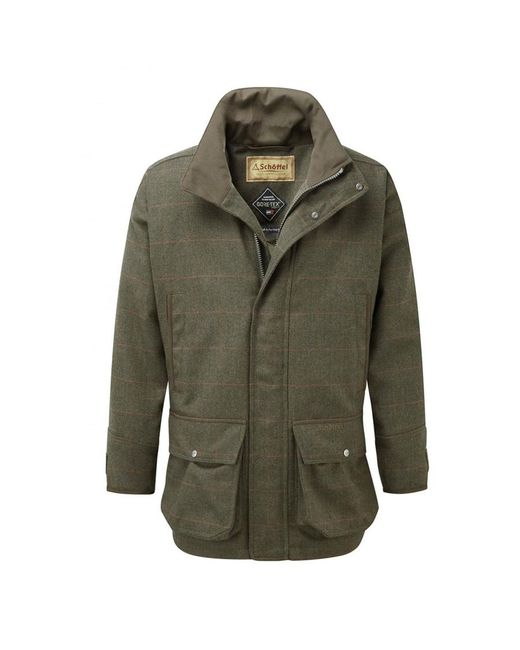 Schoffel Green Ptarmigan Tweed Coat for men