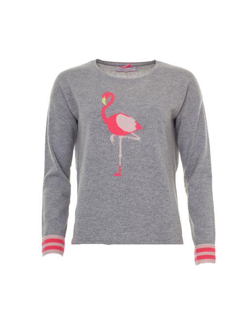Cocoa Cashmere Brown Flamingo Knit
