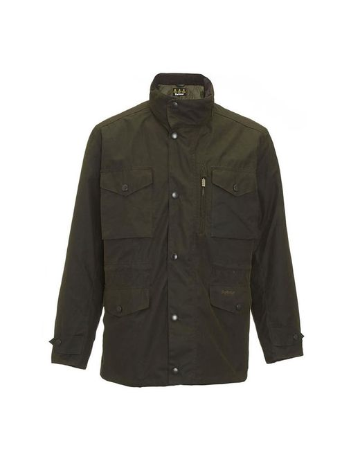 Barbour Green Sapper Waxed Jacket for men