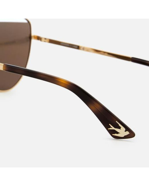 6881b45f06 ... McQ Alexander McQueen - Metallic Women s Metal Aviator Style Sunglasses  - Lyst