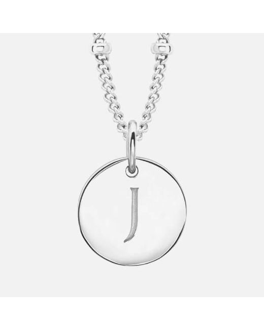 Missoma - Metallic Women's Initial Charm Necklace J - Lyst