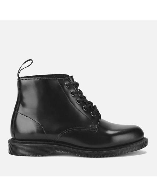 Dr. Martens Black Emmeline Leather Ankle Boots