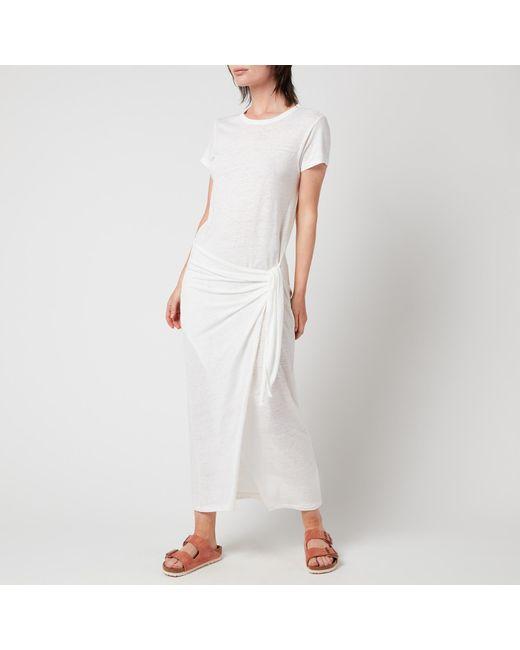 Polo Ralph Lauren White Tie Knot T-shirt Dress