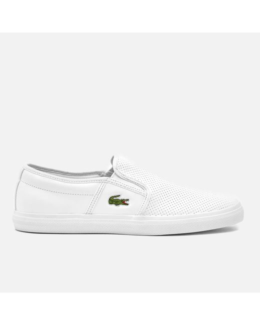 bf775198bcb6c5 Lacoste - White Gazon Bl 1 Leather Slip-on Trainers for Men - Lyst ...