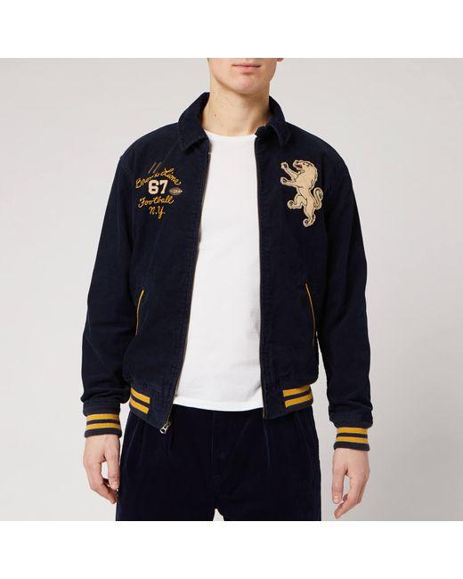 Polo Ralph Lauren Blue Applique Cord Harrington Jacket for men