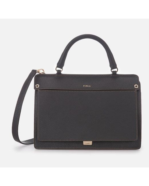 Furla - Black Women s Like Small Top Handle Bag - Lyst ... 384549b041fc6