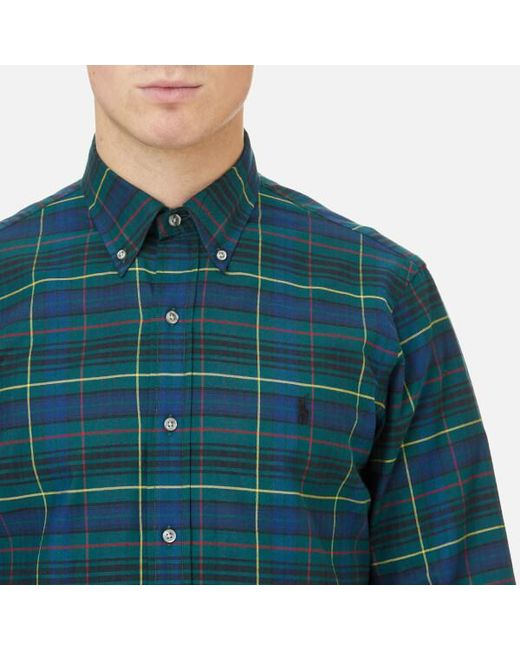 Lyst polo ralph lauren men 39 s brushed twill shirt in for Brushed cotton twill shirt