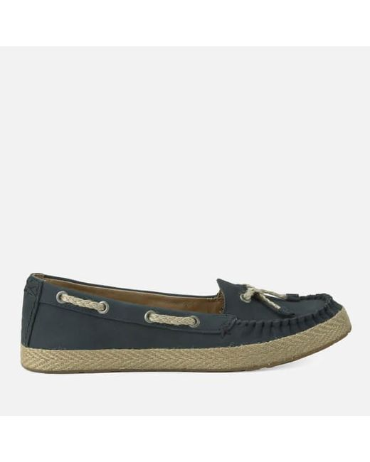 Ugg | Blue Women's Chivon Leather Moccasin Shoes | Lyst