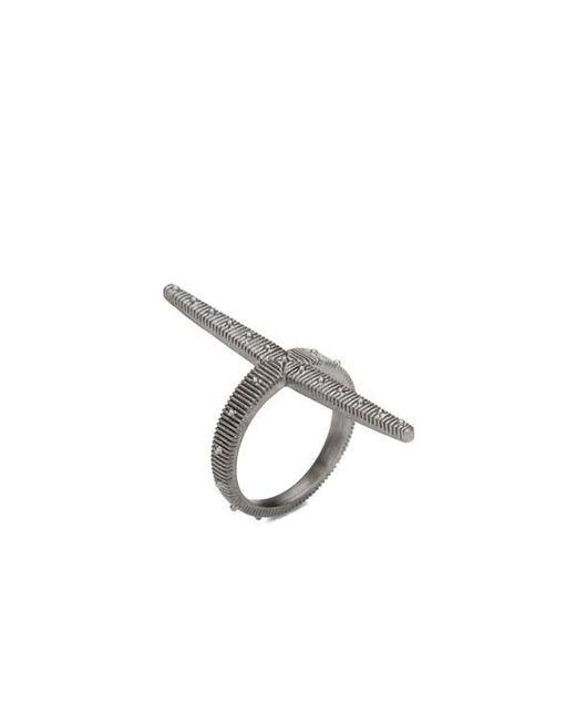 Line & Jo   Gray Women's Miss Rainer Sterling Silver Large Cross Ring   Lyst