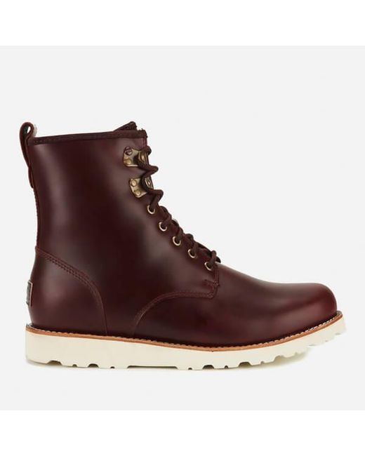 ugg mens hannen tl waterproof leather lace up boots in