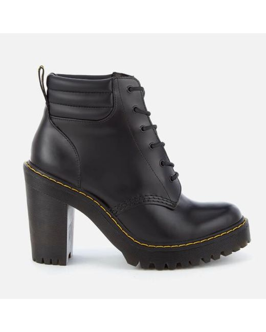 Dr. Martens | Brown Persephone 6-Eye Leather Ankle Boots | Lyst
